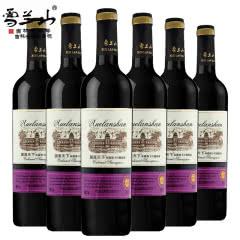 吉林雪兰山国派天下精选级赤霞珠干红葡萄酒11度750ml 6瓶整箱