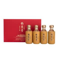 53°钓鱼台酱香型白酒十年陈酿礼盒装125ml*4瓶
