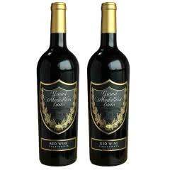 美国原瓶进口红酒  加州中央山谷美特兰家族混酿红葡萄酒750m*2