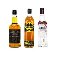 40°高朗(GAOLANG)洋酒【3瓶组合装】威士忌狮王+卡沙款+暧昧伏特加 700ml