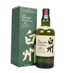 日本原装进口威士忌 白州12年单一麦芽威士忌700ml