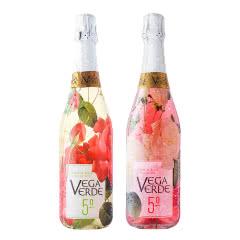 西班牙原装进口 爱之湾花酿绿谷双支起泡气泡葡萄酒甜酒香槟低醇少女果酒750ml*2