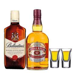 进口洋酒洋酒大礼包  芝华士12年苏格兰威士忌 百龄坛苏格兰威士忌