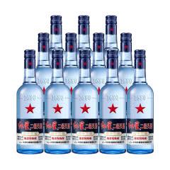 【红星正品】红星 白酒 蓝瓶二锅头 绵柔8陈酿 清香型 43度 500ml*12瓶 整箱装