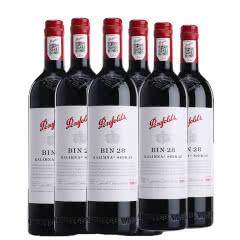 澳大利亚原瓶进口红酒奔富BIN28设拉子红葡萄酒750ml*6