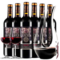 拉斐庄园2008特选干红葡萄酒原酒进口红酒整箱醒酒器装750ml6