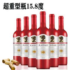 澳大利亚 原瓶进口 凯娜尔干红葡萄酒750ml*6瓶 超重瓶15.8度