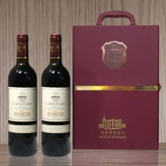 法国 原瓶进口 拉菲伯爵酒堡梅洛干红葡萄酒750ML*2支原装礼盒