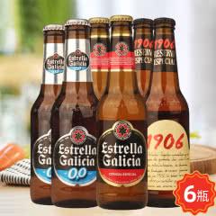 西班牙原装进口埃斯特拉牌啤酒1906珍藏版无醇啤酒组合6瓶装
