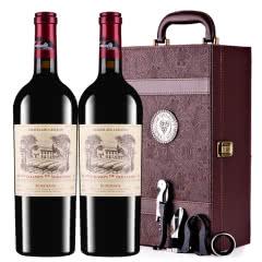 拉斐香榭城堡干红葡萄酒法国进口红酒AOP级红酒礼盒装750ml*2