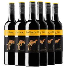 澳洲原瓶进口红酒 黄尾袋鼠西拉半红葡萄酒红酒整箱750ml*6