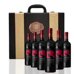 法国 原瓶进口卡维斯美乐干红葡萄酒750ml*6支 皮箱装