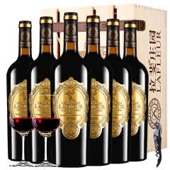 法国进口红酒拉斐天使庄园干红葡萄酒红酒整箱 木箱装750ml*6