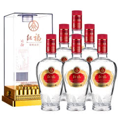 五粮液生态酿酒公司 红福精品 52度浓香型白酒 500ml*6礼盒装