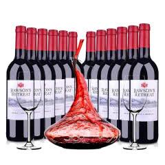 澳洲整箱红酒澳大利亚奔富洛神山庄西拉赤霞珠红葡萄酒750ml(12瓶装)