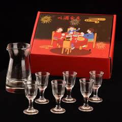 白酒杯一口杯分酒器套装7件套 礼盒装