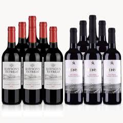澳洲红酒澳大利亚奔富洛神山庄赤霞珠红葡萄酒750ml*6+西班牙欧瑞安门萨古藤干红葡萄酒750ml*6