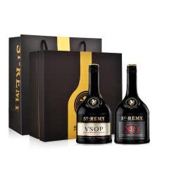 40°法国圣雷米XO700ml+VSOP700ml+双支礼盒