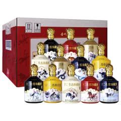 52°贵州茅台镇利波 十二生肖纪念酒·豪华版 浓香型白酒礼盒整箱 500ml*12