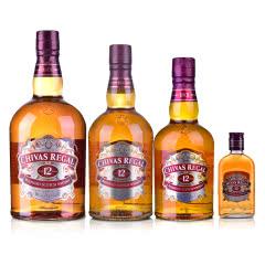 40°英国芝华士12年苏格兰威士忌200ml+500ml+700ml+1000ml(集合)