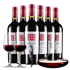 法国原酒进口红酒拉斐庄园特藏干红葡萄酒醒酒器装 750ml*6