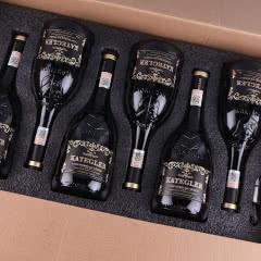 【红酒礼盒】法国进口红酒15度老藤珍酿AOP级浮雕手握瓶干红葡萄酒 整箱750ml*6支