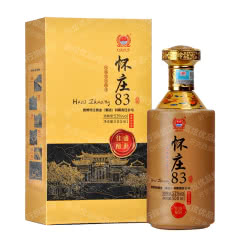 53°贵州怀庄83盛世佳酿酱香型白酒500ml*1【单瓶】