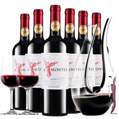 蒙特斯montes天使系列智利原瓶原装进口红酒天使珍藏梅洛干红葡萄酒整箱装750ml*6