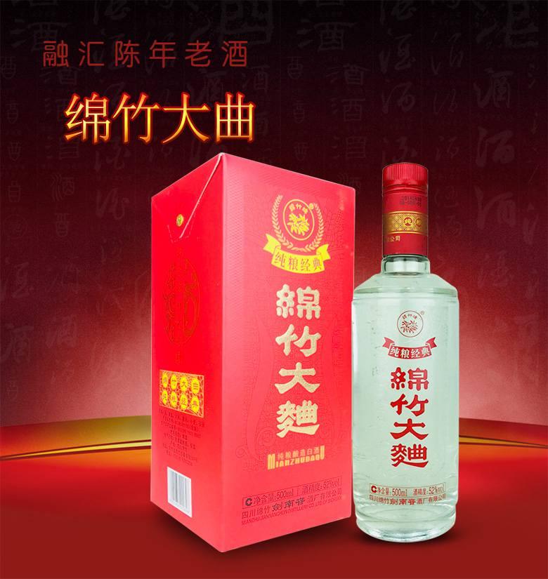 老酒 52°剑南春酒厂绵竹大曲500ml(2瓶装)2014年