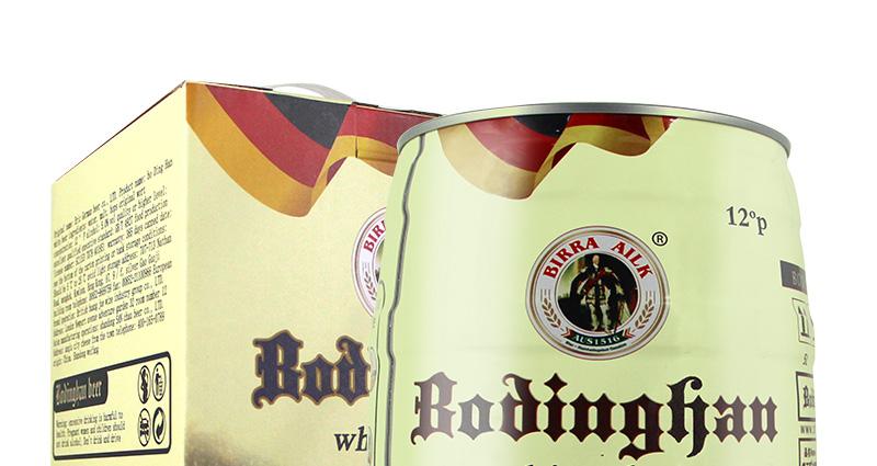 德国精酿工艺啤酒 5L桶装白啤礼盒装 麦香原浆 5000ml畅饮桶装啤酒