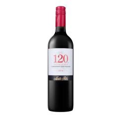智利进口 桑塔丽塔120加本力苏维翁 干红葡萄酒750ml