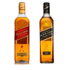 40°尊尼获加红方+黑方威士忌洋酒2瓶装750ml