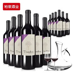 买1箱得2箱 智利红酒原瓶进口干红葡萄酒 弗朗西拉红酒整箱