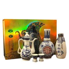 绍兴黄酒古越龙山库藏十年礼盒500ml+300ml半干型黄酒礼盒14°