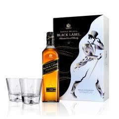 40°尊尼获加 黑方调配型苏格兰威士忌 700ml(礼盒装)