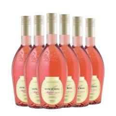 波斯塔瓦(Bostavan)摩尔多瓦原瓶进口红酒 莫斯卡托半甜桃红葡萄酒750ml(6瓶)