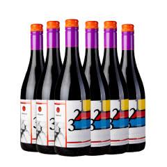 天鹅湖(kazayak)摩尔多瓦原瓶进口红酒梅洛微甜半干红葡萄酒750ml(6瓶装)整箱