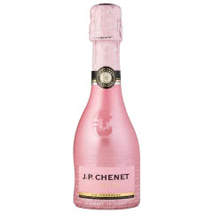 法国进口红酒 香奈(J.P.CHENET)冰爽半干型桃红起泡葡萄酒 200ml