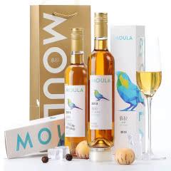 慕拉(MOULA)红酒冰酒白葡萄酒女士2支礼盒装雷司令500ml*2