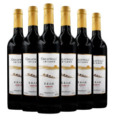 长城塞漠风情 高级解百纳干红葡萄酒750ml 6支整箱装