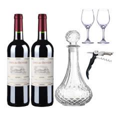 法国原瓶进口葛雷奥利干红葡萄酒750ml*2(内含酒具大礼包)