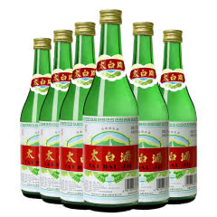 50度 太白酒 普太绿瓶 陕西 凤香型 纯粮高度白酒 500ml*6
