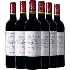 法国进口红酒 拉菲尚品波尔多红葡萄酒 750ml(正品行货)(6瓶装)