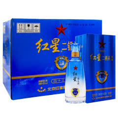 43°红星二锅头蓝盒12 陈酿500ml(6瓶装)