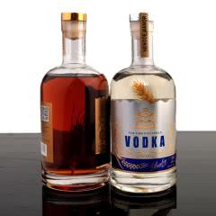 40°洋酒格兰贝克烈酒基酒 (大麦伏特加1瓶+大麦威士忌1瓶   )500ml*2