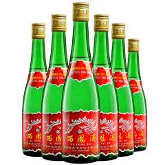 西凤酒55度绿瓶高脖凤香型西凤高度口粮白酒整箱500ml*6瓶