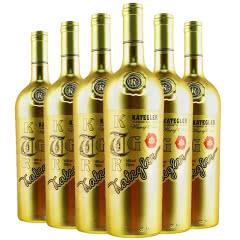 智利进口红酒14度智利进口凯蒂格勒埃尔德赤霞珠干红葡萄酒750ml*6(金瓶)