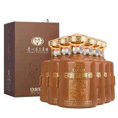 茅台集团白金迎宾酒53度酱香型白酒 送礼礼盒 收藏500ml*6整箱