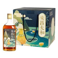 14°半甜型花雕酒糯米自酿瓶装加饭老酒可泡阿胶礼盒装黄酒500ml*6瓶