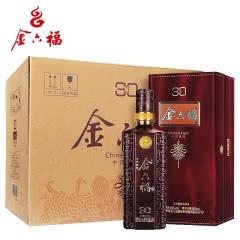 中国福酒50度金六福N30浓香型白酒500ml*6瓶婚宴酒红瓶
